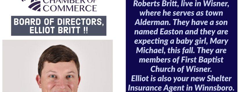 Chamber Welcomes New Board Member Elliot Britt!
